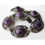 vintage art deco mexican sterling amethyst bracelet