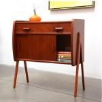 vintage danish modern teak entry chest