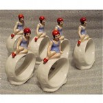 vintage german porcelain napkin rings