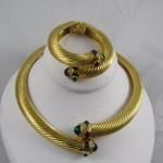 vintage givenchy choker and bracelet set