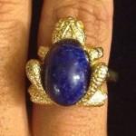vintage mazer frog ring