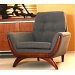 vintage mid-century restored lounge chair