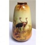 vintage ostrich vase