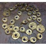 vintage pauline rader coin necklace