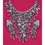 vintage schiaparelli necklace and earrings