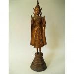 vintage thai gold gilt bronze buddha