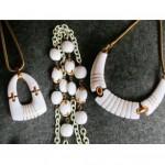 vintage trifari trio of necklaces