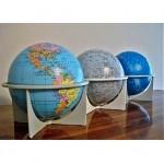 vintage trio of 1970s replogle globes