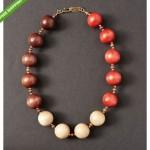 vintage ysl wood bead necklace