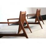 vintage midcentury kofod larsen for selig lounge chairs