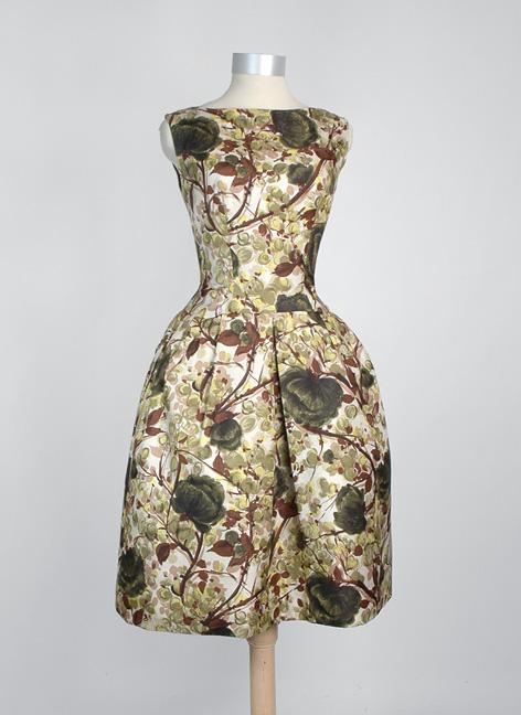 vintage 1960s silk party dress