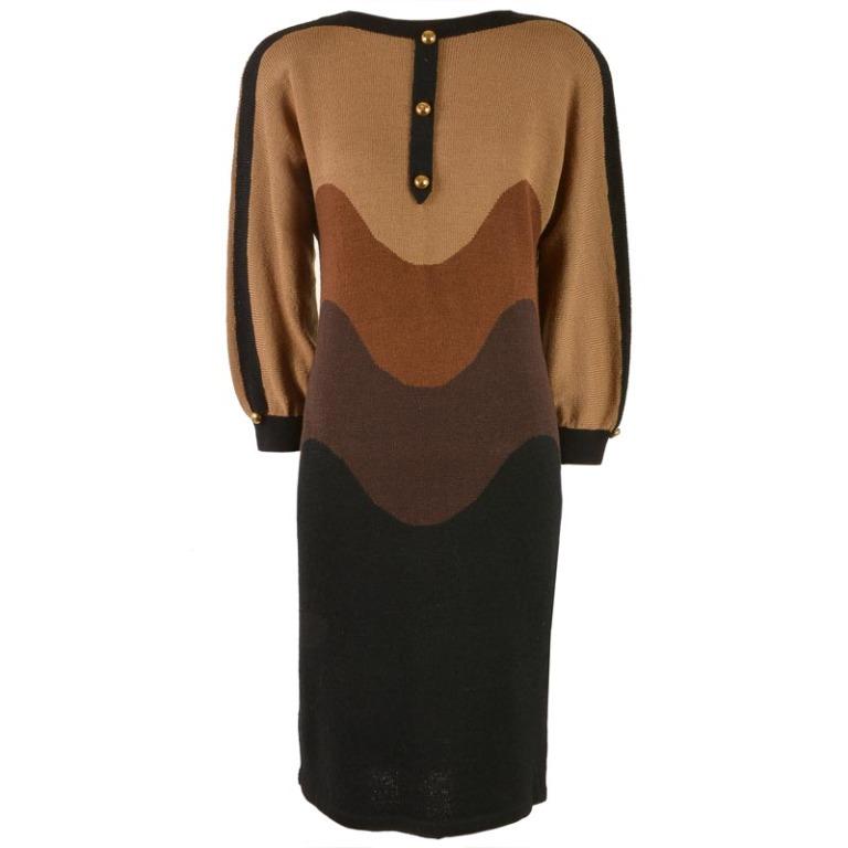 vintage 1980s adolfo sweater dress
