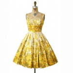 vintage 1950s cotton party dress