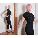vintage 1950s unlabeled tobi of california sequin catsuit