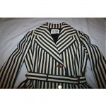 vintage 1960s bill blass striped trench coat