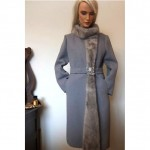 vintage 1960s mink trim wool coat