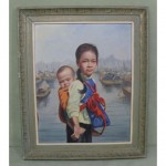 vintage 1961 david cheng oil painting