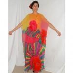 vintage 1970s hanae mori silk chiffon gown