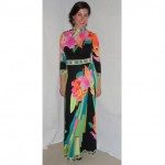 vintage 1970s leonard maxi dress