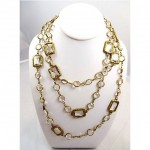 vintage chanel 1981 crystal necklace