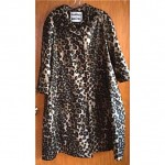 vintage dvf for main street animal print swing trenchcoat