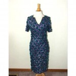 vintage gene shelly beaded sequin wool sweater dress