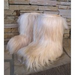 vintage goat fur yeti apres ski boots