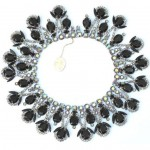 vintage juliana for vendome rhinestone necklace with rag