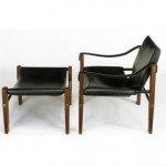 vintage mid-century maurice burke for arkana lounge chair and ottoman