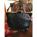 vintage mid-century rosenfeld alligator handbag