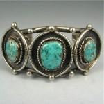 vintage navajo turquoise silver bracelet