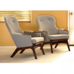 vintage pair of mid-century adrian pearsall lounge chairs