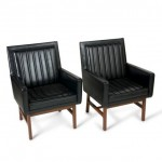 vintage pair of milo baughman arm chairs