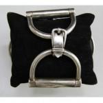 vintage silver hermes horse bit bracelet