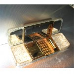 vintage wilardy lucite compact=