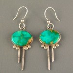 pre-owned turquoise dangle earrings