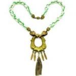 vintage 1920s czech necklace