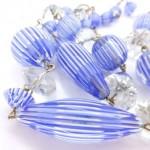 vintage 1920s venetian moretti glass bead necklace