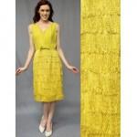 vintage 1950s fringe dress