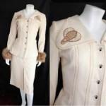 vintage 1970s bill gibb fox trim bumblebee suit
