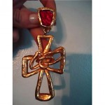 vintage 1980s christian lacroix cross earrings