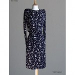 vintage 1980s ysl musical notes print dress