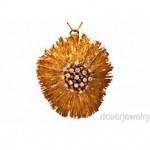 vintage david webb 18k pendant pin with diamonds