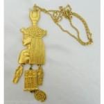 vintage kjl pharaoh necklace