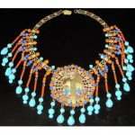 vintage miriam haskell egyptian revival necklace