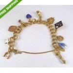 vintage monet bracelet with 14k charms