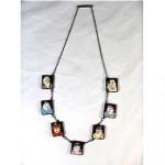 vintage toshikane sterling gods of fortune necklace