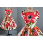 vintage vera fabric dress