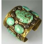 pre-owned tony aguilar turquoise bracelet