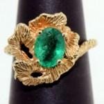 vintage 14k emerald ring